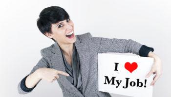 Businesswoman Loves Her Job