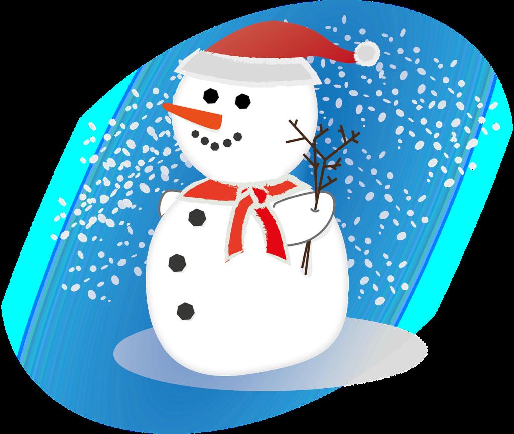 Snehuliak (Zdroj: https://pixabay.com/en/snowman-snow-winter-season-xmas-547464/)
