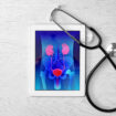 Tablet,Displaying,Urinary,System,And,Stethoscope,On,Wooden,Background.,Urology